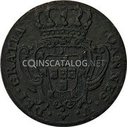 Portugal 3 Reis (III) 1732 KM# 215 Kingdom Milled coinage coin obverse