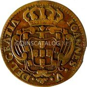 Portugal 3 Reis (III) 1744 KM# 225 Kingdom Milled coinage coin obverse