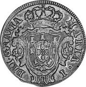 Portugal 3 Reis (III) 1797 KM# 308 Kingdom Milled coinage coin obverse
