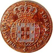 Portugal 3 Reis (III) 1818 KM# 354 Kingdom Milled coinage coin obverse