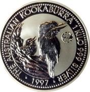 Australia 30 Dollars Kookaburra. Liberty Walking privy mark 1997 Proof THE AUSTRALIAN KOOKABURRA 1 KILO 999 SILVER 1997 coin reverse