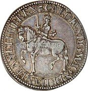 UK 30 Shillings (Charles I (3rd Coinage, 2nd Issue)) KM# 88.2 CAROLVS · D : G · MAGN · BRITAN · FRAN · ET · HIB · REX · coin obverse