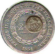 Portugal 300 Reis ND KM# 20.3 Portuguese Administration Countermarked coinage (1871 Decree) coin obverse