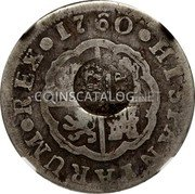 Portugal 300 Reis ND KM# 25.1 Portuguese Administration Countermarked coinage (1887 Decree) coin obverse
