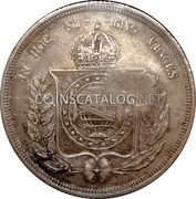 Portugal 300 Reis ND KM# 20.2 Portuguese Administration Countermarked coinage (1871 Decree) coin reverse