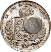 Portugal 300 Reis ND KM# 20.3 Portuguese Administration Countermarked coinage (1871 Decree) coin reverse