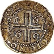 Portugal 4 Cruzados Afonso VI 1660 KM# 81 IN · HOC · SIGNO · VINCES coin reverse