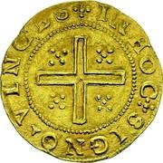 Portugal 4 Cruzados ND LB KM# 9.2 Kingdom Dump coinage INHOC SIGNO VINCES coin reverse