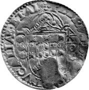 Portugal 4 Cruzados ND KM# 458.9 Kingdom Countermarked coinage Type VII coin reverse