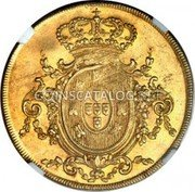 Portugal 4 Escudos (Peca) 1812 KM# 336 Kingdom Milled coinage coin reverse