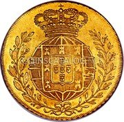 Portugal 4 Escudos (Peca) 1822 KM# 364 Kingdom Milled coinage coin reverse