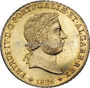 Portugal 4 Escudos (Peca) 1826 KM# 378 Kingdom Milled coinage coin obverse