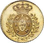 Portugal 4 Escudos (Peca) 1826 KM# 378 Kingdom Milled coinage coin reverse