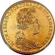 Portugal 4 Escudos (Peca) 1828 KM# 388 Kingdom Milled coinage coin obverse