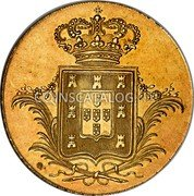 Portugal 4 Escudos (Peca) 1831 KM# 397 Kingdom Milled coinage coin reverse