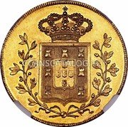 Portugal 4 Escudos (Peca) 1833 KM# 404 Kingdom Milled coinage coin reverse