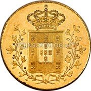 Portugal 4 Escudos (Peca) 1834 KM# 405 Kingdom Milled coinage coin reverse