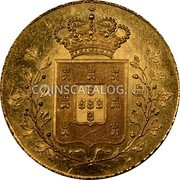 Portugal 4 Escudos (Peca) 1835 KM# 407 Kingdom Milled coinage coin reverse