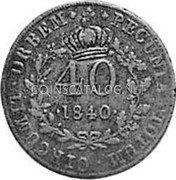 Portugal 40 Reis ND KM# 22.2 Portuguese Administration Countermarked coinage (1871 Decree) coin obverse