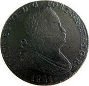 Portugal 40 Reis (Pataco) 1821 KM# 371 Kingdom Milled coinage coin reverse