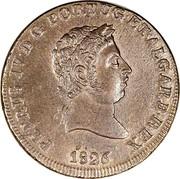 Portugal 40 Reis (Pataco) 1826 KM# 373 Kingdom Milled coinage PETRUS IV D G PORTUG ET ALGARB REX 1826 coin obverse