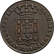 Portugal 40 Reis (Pataco) 1829 KM# 380 Kingdom Milled coinage coin obverse