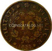 Portugal 40 Reis (Pataco) 1833 KM# 401 Kingdom Milled coinage coin reverse