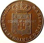 Portugal 40 Reis (Pataco) 1847 KM# 402 Kingdom Milled coinage coin obverse