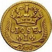 Portugal 400 Reis (Pinto. 480 Reis) 1752 KM# 248.1 Kingdom Milled coinage JOSE I 400 coin obverse