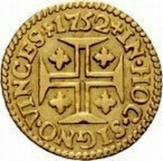 Portugal 400 Reis (Pinto. 480 Reis) 1752 KM# 248.1 Kingdom Milled coinage IN HOC SIGNO VINCES 1752 coin reverse