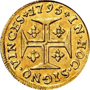 Portugal 400 Reis (Pinto. 480 Reis) 1795 KM# 291 Kingdom Milled coinage coin reverse
