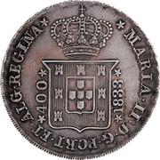 Portugal 400 Reis (Pinto. 480 Reis) 1833 KM# 403.1 Kingdom Milled coinage coin obverse