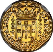 Portugal 4000 Reis 1714 KM# 184 Kingdom Milled coinage coin obverse