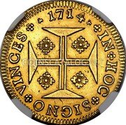 Portugal 4000 Reis 1714 KM# 184 Kingdom Milled coinage coin reverse