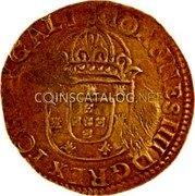 Portugal 4400 Reis ND KM# 455.5 Kingdom Countermarked coinage Type V coin reverse
