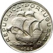 Portugal 5 Escudos 1942 KM# 581 Republic REPUBLICA PORTUGUESA FRAGOSO. GR. J. DA SILVA 1942 coin obverse