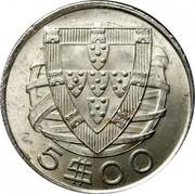 Portugal 5 Escudos 1942 KM# 581 Republic 5 $ 00 coin reverse