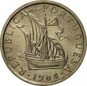 Portugal 5 Escudos 1984 KM# 591 Republic REPUBLICA PORTUGUESA 1973 coin obverse