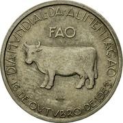 Portugal 5 Escudos FAO - World Food Day 1983 KM# 618 DIA MVNDIAL DA ALIMENTAÇÃO FAO INCM 16 DE OVTVBRO DE 1983 coin reverse