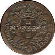 Portugal 5 Reis 1750 KM# 1 Prortuguese Administration Provincial coinage coin obverse