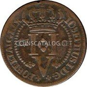 Portugal 5 Reis 1750 KM# 1 Prortuguese Administration Provincial coinage coin reverse