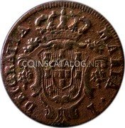 Portugal 5 Reis 1797 KM# 9 Prortuguese Administration Provincial coinage coin obverse
