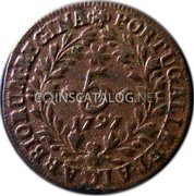 Portugal 5 Reis 1797 KM# 9 Prortuguese Administration Provincial coinage coin reverse