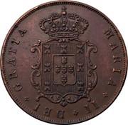 Portugal 5 Reis 1840 KM# 480 Kingdom Decimal coinage MARIA II DEI GRATIA coin obverse