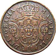 Portugal 5 Reis 1843 KM# 10 Portuguese Administration Provincial coinage coin obverse