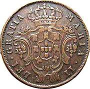 Portugal 5 Reis 1843 KM# 10 Portuguese Administration Provincial coinage MARIA II DEI GRATIA coin obverse