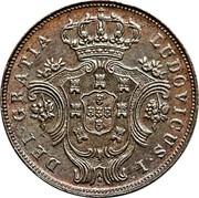 Portugal 5 Reis 1880 KM# 13 Portuguese Administration Provincial coinage LUDOVICUS I DEI GRATIA coin obverse