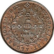 Portugal 5 Reis 1880 KM# 13 Portuguese Administration Provincial coinage coin reverse