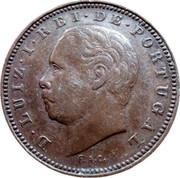 Portugal 5 Reis 1882 KM# 525 Kingdom Decimal coinage coin obverse