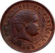Portugal 5 Reis 1899 KM# 530 Kingdom Decimal coinage CARLOS I REI DE PORTUGAL 1899 coin obverse